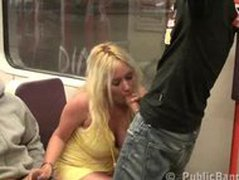 Gangbang sex  gangbang in subway train PART 1