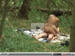 Nice fuck in the woods HD