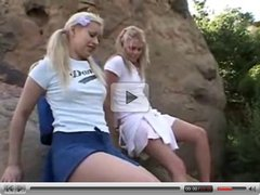 Tiny Summer and Amber - The blonde leading the blonde