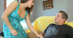 Naughty housewife Charity Bangs pleases her husband