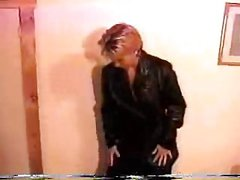 Blowjob and sex in leather jacket part 1