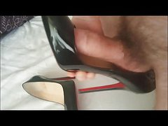 Cum on wifes Louboutins
