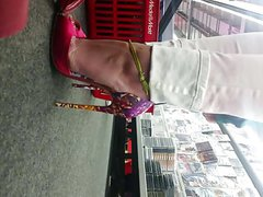 high heels in the supermarket voyeur 13cm arched louboutin