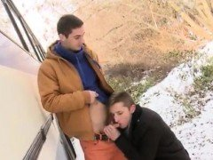 Gay outdoor fucking stories Two Sexy Hunks Fuck Outdoors For