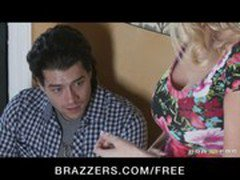 Lonely blonde wife Blake Rose cheats on husband with young stud