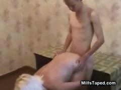 Ten Boy Fucked by a Horny MILF